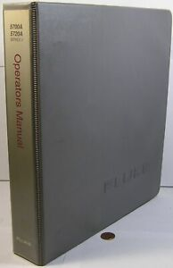Fluke 5700a 5720a Series 2 W ep Option Operators service Manual In Binder Used