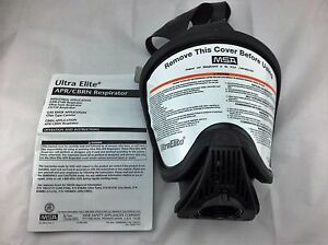 Msa Ultra Elite Apr cbrn nbc Hycar Respirator Gas Mask Size Med Part 7 934 1c