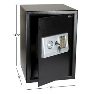 Safe Digital Keypad Box Electronic Lock Security Home Office Gun Hotel Large Jew