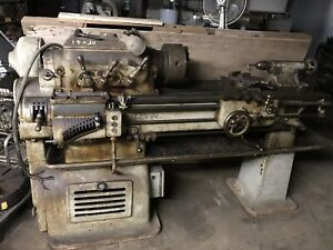 Hendey 12x30 Metal Engine Lathe With 3 4 Jaw Chucks Etc Philly Pickup