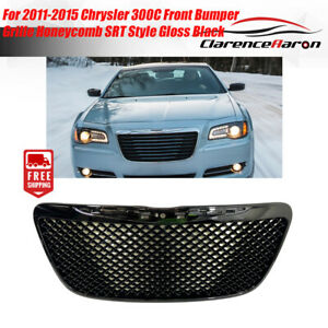 For 2011 2015 Chrysler 300c Front Bumper Grille Honeycomb Srt Style Gloss Black