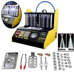 Autool Ct 200 Ultrasonic Fuel Injector Cleaning Tester Cleaner Car Motorcycle