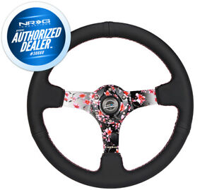 New Nrg Kyle Mohan Steering Wheel 350mm 3 Deep Dish Suede Rst 036mb S Kmr
