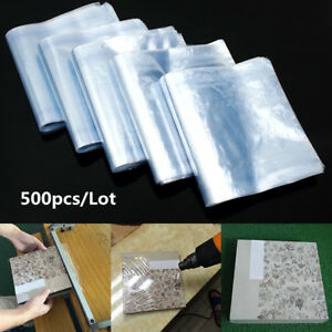 500pcs Heat Shrink Wrap Film Flat Bags For Candles Cosmetics Pvc Shrink Poly