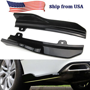 For Honda Accord 2018 Abs Car Rear Bumper Skirt Spoiler Lip Side Wing Trim Black
