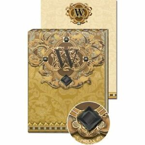 W Monogram Jewel And Gold Foil Embellished Pocket Note Pad Three