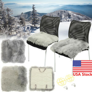Universal Winter Seat Wool Pad Sheepskin Cushion Sofa Warmer For Car Home