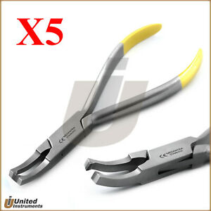 X5 Orthodontic Bracket Remover Pliers Tc Curved 13 5cm Surgical Dental Supplies