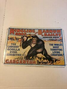 Ringling Brothers Barnum Baliey Collectable Sign Great Graphics And Subject