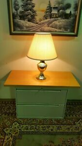 File Cabinet 2 Drawer With Cherry Wood Table Top