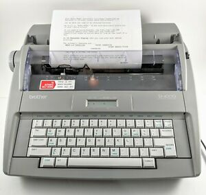 Brother Sx4000 Electronic Typewriter Dictionary New Ribon Needs New Delete Ribon