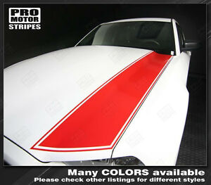 Ford Mustang 2005 2009 Hood Side Stripes Decals W Pinstriping Choose Color