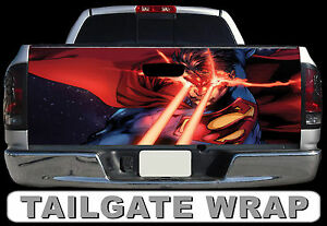 T238 Superman Tailgate Wrap Decal Sticker Vinyl Graphic Bed Cover