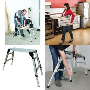 30 75 In X 11 75 In Adjustable Portable Work Platform Foldable Aluminum Step