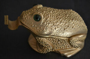 Vintage Ted Arnold Ltd Frog Green Eyes Metal Tape Dispenser