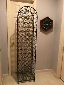 Arthur Umanoff Wrought Iron 67 Bottle Wine Rack Tower Mid Century May Ship