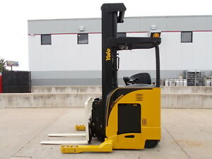 2011 Yale Ndr035da Electric Deep Reach Truck Narrow Aisle Lift Forklift Stand Up