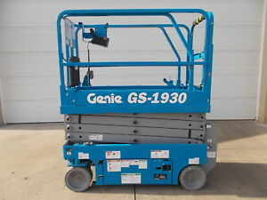 New Genie Gs 1930 Scissor Lift Boom Lift Man Lift Awp Manlift