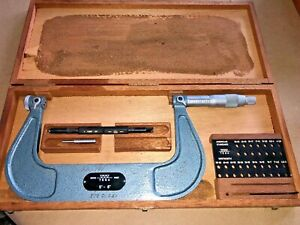 Tesa Thread Pitch Micrometer 5 6 Spi 10 376