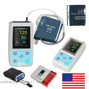 Ambulatory Blood Pressure Monitor 24 Hours Recorder Nibp Oximeter pc Software us