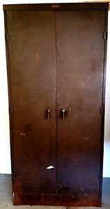 Terrell s Equipment Vintage Industrial Metal Tool Storage Cabinet
