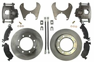 Ruffstuff Ford Dana 60 76 Older Rear Axle Disc Brake Kit With Steel Braided