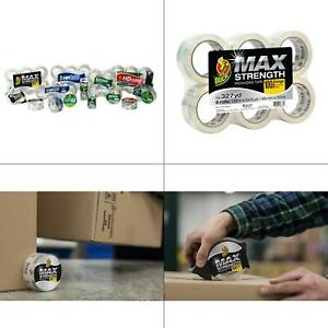 Max Strength 1 88 In X 54 6 Yd Packaging Tape 6 pack Free Shipping