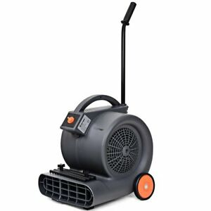 Shop Air Mover Blower Fan 3 Speeds Dryer With Wheels