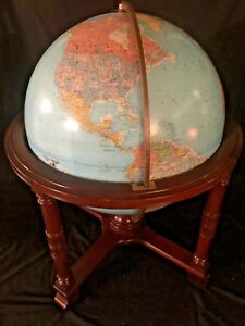 Heirloom Replogle Diplomat 32 Lighted Library Globe Mahogany Base