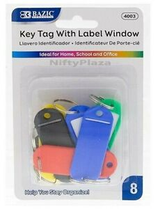 Key Tags With Label Window Help You Stay Organize Brand New High Quality 8 pack