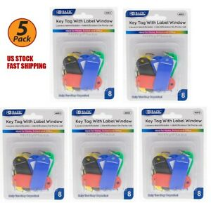 5 Pack Key Tags With Label Window Help You Stay Organize Brand New 8 pack