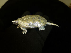 Rare Antique Japanese Sterling Silver Turtle Ornament Signed Zuiho See Video