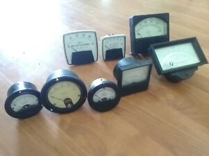Vintage Weston Volts Gauge Meter simpson Triplet Amperes lot Of 8