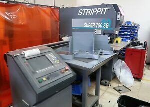 40 Ton Strippit Super 750 40 Sg Programable Single End Punch Loaded With Tooling