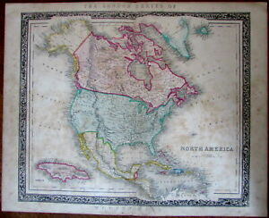 North America Mormons Unmapped Territorial West C 1846 Betts Rare Map