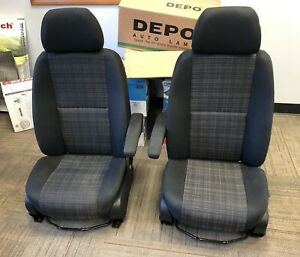 15 18 Mercedes benz Sprinter Van Black Cloth Front Bucket Seats With Netted Back