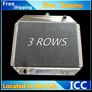 3 Rows Aluminum Radiator For Ford Bronco 78 79 F 100 F 150 F 250 F 350 70 79 V8