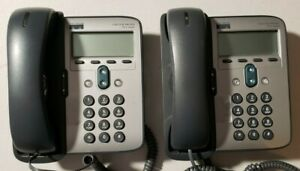 2 X Cisco Systems Unified Voip Office Business Phone 7 Series Cp 7912g W o Stand