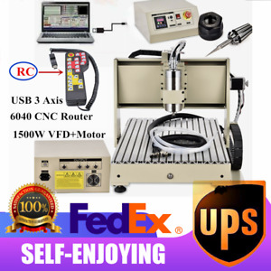 1 5kw Usb 6040 3 Axis Cnc Router Engraver 3d Cutting Milling Machine controller