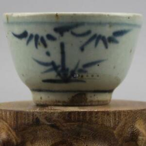 Old Chinese Ming Dyn Wanli Blue And White Porcelain Tea Cup A12