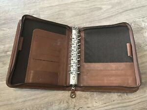 Franklin Covey Organizer Planner Full Grain Leather Distressed Brown 1 5 Usa