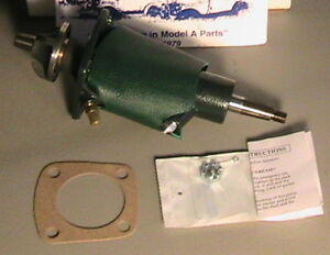 1928 1929 1930 1931 Model A Ford Leakless Water Pump Set W Green Leather Cover