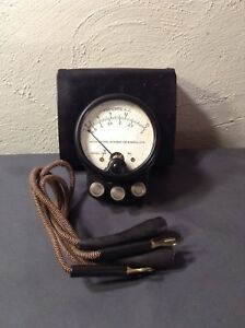 Weston Electric 528 Lab Instrument Volt A c gauge Amperes Meter Steampunk Box