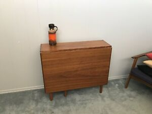 Mid Century Modern Dining Table Teak Drop Leaf Folding Table