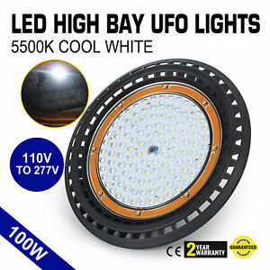 100w Ufo Led High Bay Light Waterproof Eco efficient Monochrome