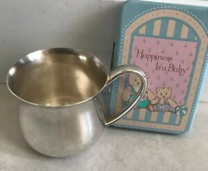 Baby Cup Lunt Silverplate C 102 1989 Plus Baby Frame 1985 Mini