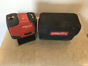 Hilti Pm 2 p Pulse Power Laser Level Two Point Plumb With Soft Case