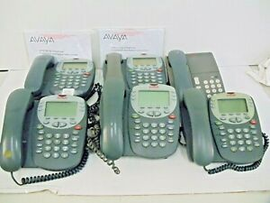 Lot Avaya 5400 Series Telephone Avaya 6211 Analog Phone W Manuals