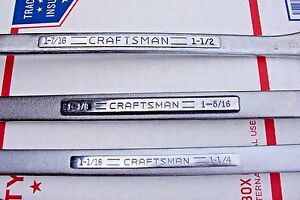 Craftsman Box Wrench Set Mostly V Series All Usa 3 8 1 1 2