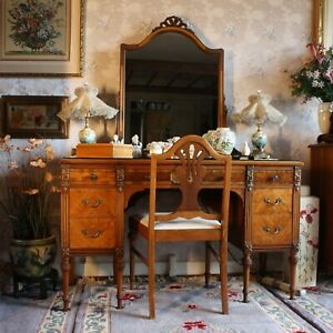 Sligh Furniture Co 6 Pc French Louis Xvi Bedroom Suite W Hand Painted Flowers